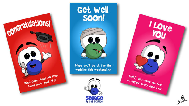 Squage Greetings Cards
