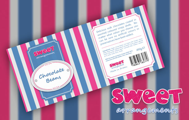 Sweet Arrangements Label Design